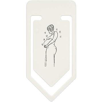 Azeeda 91mm Schwangere Dame Grosse Plastik Buroklammer Cc00023875