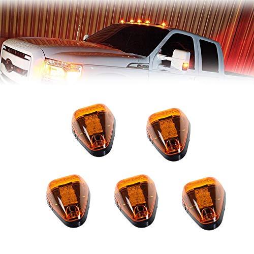 Amber Lens Cab Lights 16 Amber LED Clearance Marker Light 15442 Assembly for 1999-2016 Ford F150 F250 F350 Super Duty Pickup Trucks … ()