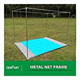 How Big Is a King Size Bed ourfun Metal Frame Professional Indoor Growing Greenhouse Steel Square Netting Bracket Mosquito Net Most-Valuable DIY Green House Kit Detachable Movable Queen Size, 80