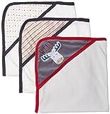 hooded towel 3 pack - Rene Rofe Baby Little Kids Basics Unisex 3 Pack Hooded Towel Set, Stars and Stripes, Newborn