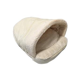 JEELINBORE Cálido Saco de Dormir Casa Perro Suave Acogedor Bolsas Cama Perrera para Perros y Gatos (Ligero Pink, 54 * 40 * 30CM): Amazon.es: Hogar