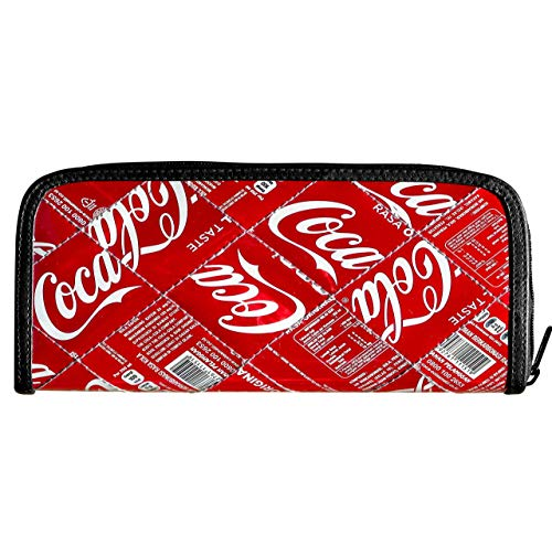 (Long pencil case made from real Coca Cola can PRIME gift idea for coke lover eco friendly milk carton food material zip pouch bag upcycled up-cycled recycled soda cans cocacola burrito addict)