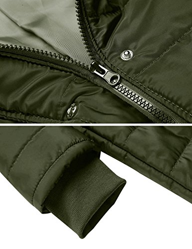 Misakia Women's Lightweight Packable Down Jacket Outwear Puffer Down Coats(Army Green L) by Misakia (Image #6)