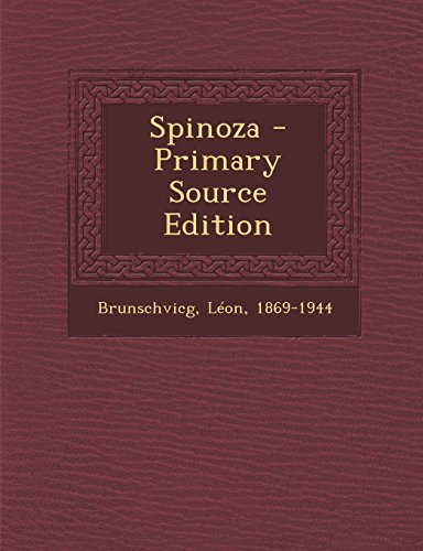 Spinoza - Primary Source Edition  [Brunschvicg, Leon] (Tapa Blanda)