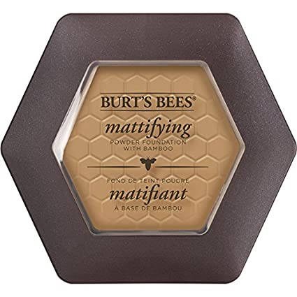 Burt's Bees 100% Natural Mattifying Powder Foundation, Nutmeg, 8.5g Burt's Bees