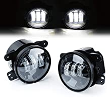 Xprite 4 Inch 60W Cree LED Fog Lights for Jeep Wrangler JK TJ LJ Tractor Boat Led Fog Lamps Bulb Auto Led Headlight Driving Offroad Lamp