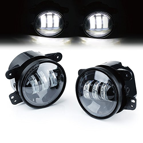 Xprite 4″ Inch 60W CREE Led Fog Lights for Jeep Wrangler 1997-2017 JK TJ LJ Off Road Fog Lamps