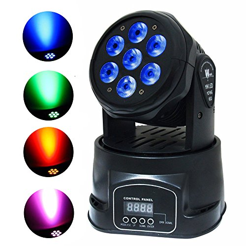 Stage Lighting by Kshioe, 4-in-1 7x10W RGBW Moving Head L...