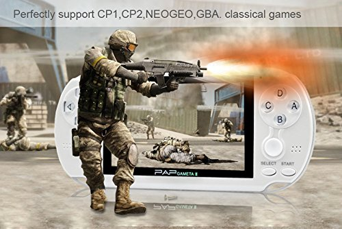 Anbernic Handheld Game Console, 4GB 4.3 Inch Screen 650 Classic Game Console, Support Video / Music / Camera, Birthday Presents for Children - White