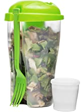 Fresh 27 Oz. Salad To Go Container Color: Green