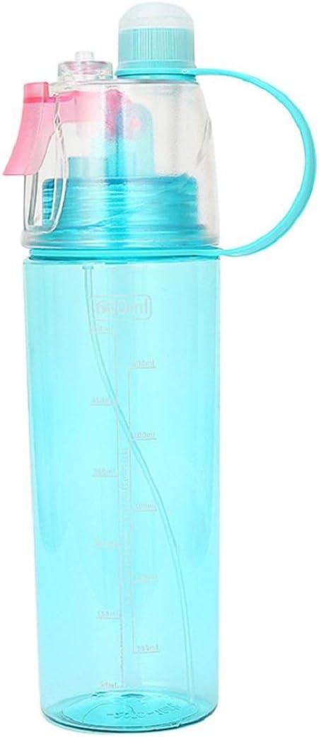 Rouge la plage verte Taille unique bleu le v/élo Bouteille deau Mamum de 600 ml pour le sport /Étanche Spray bleue