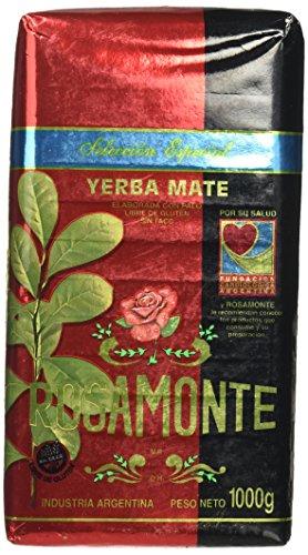 Nobleza Gaucha Yerba Mate - YERBA MATE-1 kilo/2.2 lb, BAG-VARIETY FLAVORS AND BRANDS-VARIEDAD DE MARCAS* (Rosamonte Seleccion Especial 2.2 lb 1kilo)
