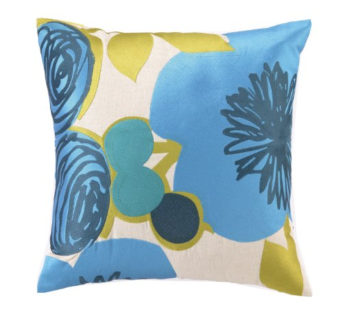 Trina Turk Down Filled Pillow, Multi Floral, Blue, 20 by 20-Inch