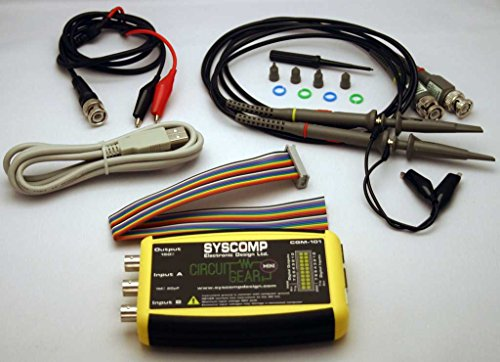 Syscomp CGM-102, Open Source Multi-Function 2MS/s Dual Channel, 11-bit USB Oscilloscope Kit ()
