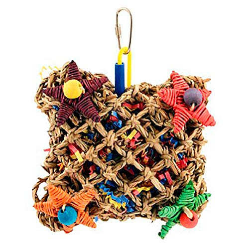 """Super Bird Creations SB949 Pickin' Pocket Foraging Bird Toy with Colorful Paper Shred, Medium Size, 5"""" x 3"""" x 7.5"""""""