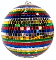 Huge 8 Inch Rainbow Reflection Mirror Disco Party Ball by Novelties company
