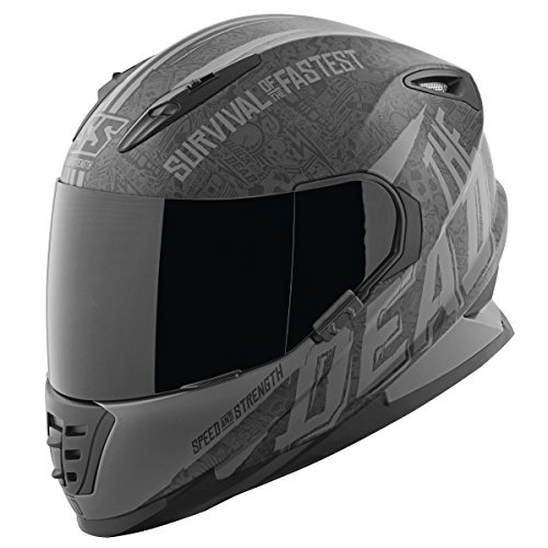 Speed & Strength SS1310 The Quick and The Dead Helmet Matte Black/Gray (Black, Medium)