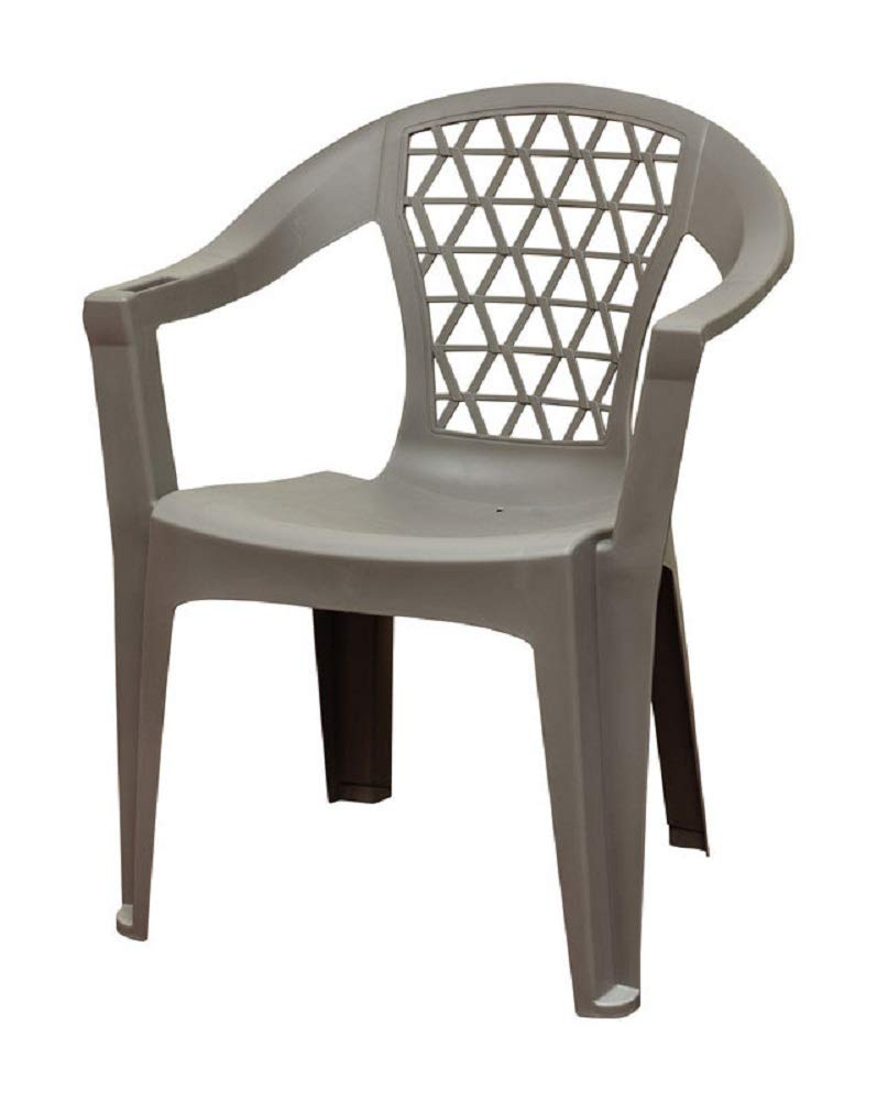 Adams 8220-13-3900 Penza Stackable Chair, Polypropylene, Grey
