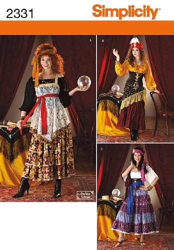 R5 Halloween Costumes (Simplicity Sewing Pattern 2331 Misses' Costumes, R5 (14-16-18-20-22))