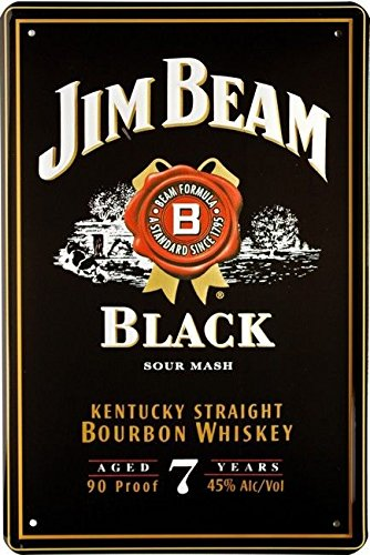 Unbekannt Cartel de Chapa 20 x 30 cm Jim Beam Black Kentucky ...