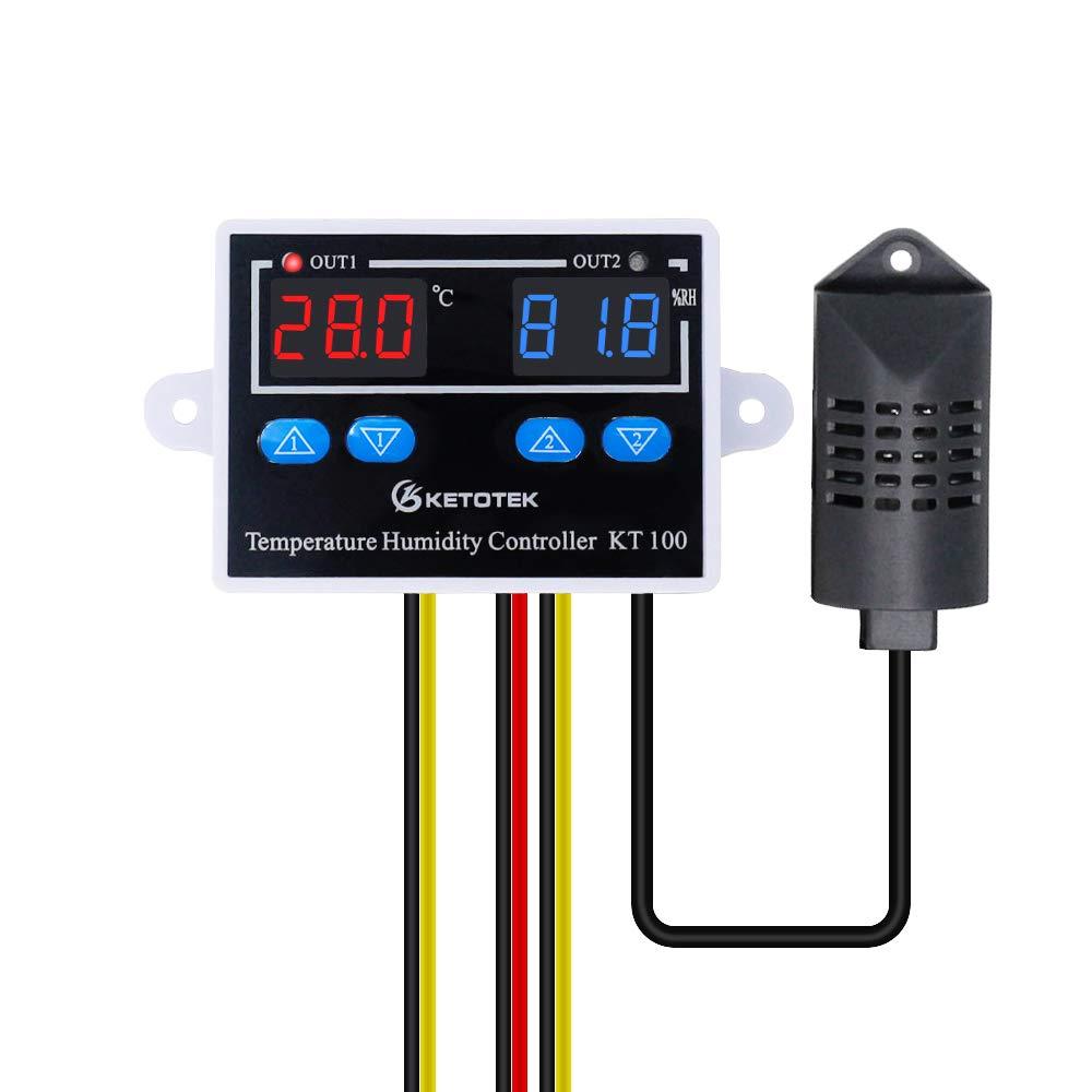 Naliovker Tmc-6000 110-240V Thermoregulateur Sur Rail de Guidage Regulateur de Temperature Numerique Thermostat Refrigeration Regulation de La Temperature de Chauffage
