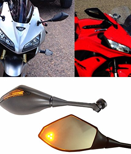 Honda Cbr600rr Tail (ALPHA MOTO Honda CBR 600 RR CBR600RR Turn Signal Integrated Mirrors 2003-2017)