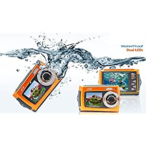 SVP 2.7 inch Dual Screen Orange Aqua5800 Underwater Camera