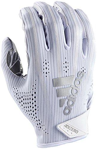adidas AF1000 Adizero 7.0 Receivers Gloves, White, Small