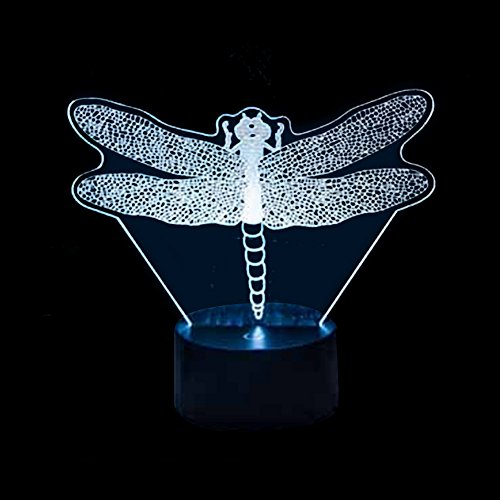 Ornerx Dragonfly 3D Illusion Lamp LED Night Light Home Decor Gifts Review