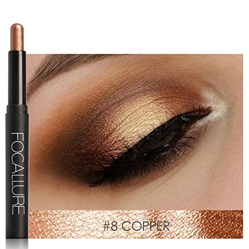 Thinkmax 12 Colors Eyes Makeup Liner Combination Pearl Eyeshadow Pencil Sticker Easy to Wear Long Lasting Smooth Shimmer Tools 0.7 oz