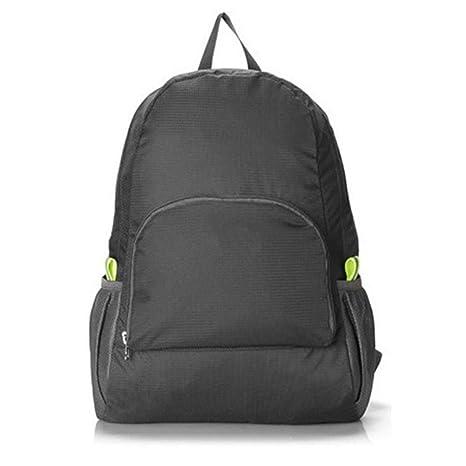 Oyamihin 20L Hombres Plegables Mujeres Impermeable Mochila de Viaje de Color Sólido Ligero Acampar Senderismo Trekking Bags School Bag: Amazon.es: Deportes ...