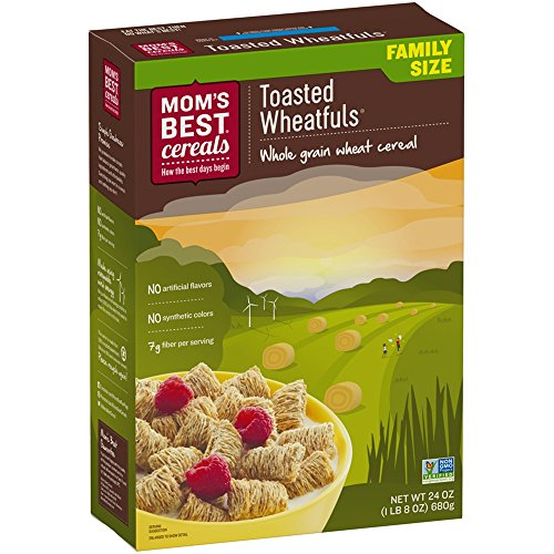 Mom's Best Naturals Breakfast Cereal, Toasted Wheatfuls, 24 Ounce, 12 Count