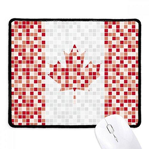 Alfombrilla de mouse antideslizante con diseño de hoja de arce de Canadá con bandera nacional