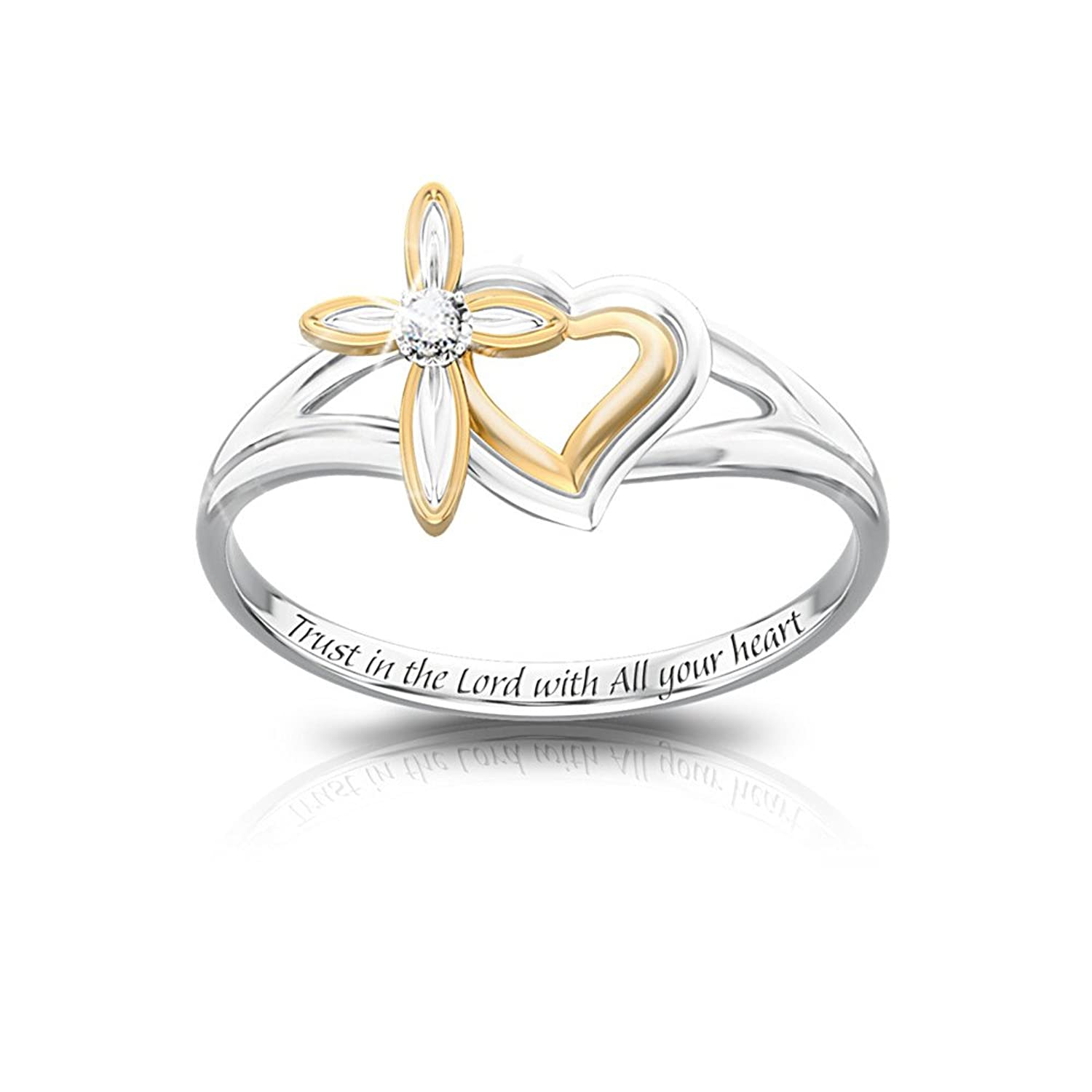 Amazon.com: My Daughter's Faith And Love Diamond Ring by The ...