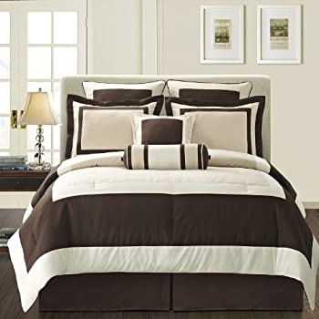 Amazon Com Fashion Street Gramercy 8 Piece Comforter Set
