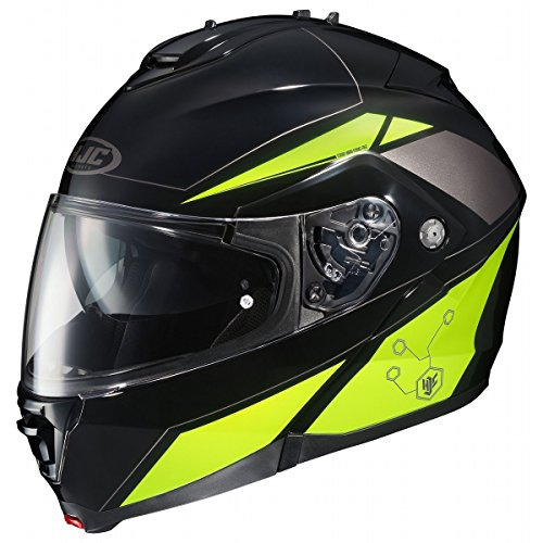 HJC IS-MAX2SN Elemental Modular Snow Helmet Frameless Electric Shield (MC-3H Hi-Viz Neon Green, XX-Large) ()