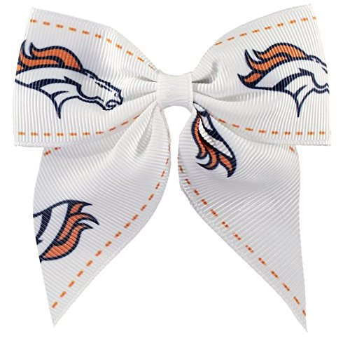 - aminco NFL Denver Broncos Women's Bow Hair Clip, One Size