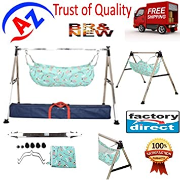 indian style semi   folding stainless steel square pipe ghodiyu  baby cradle  with cotton indian style semi   folding stainless steel square pipe ghodiyu      rh   amazon in