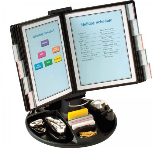 Aidata FDS021L Executive Document Holder with Supply Trays - 10 Page Stand (Black) (19H x 21W x 14D) by PERIPHERAL LOGIX by PERIPHERAL LOGIX (Image #1)