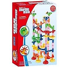 Livoty DIY Marble Run Coaster Maze Toy - Hanmun DIY Marble Race Toy