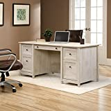 Sauder Edge Water Executive Desk in Chalked Chestnut