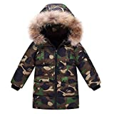 Boy's Winter Hooded Cotton Coat Jacket Parka Outwear Green Tag 140CM