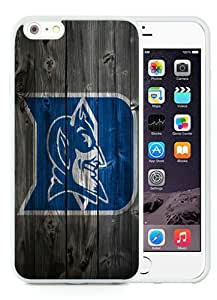 Hot Sale iPhone 6 Plus 5.5 Inch TPU Case ,Beautiful Unique Designed Case With NCAA Atlantic Coast Conference ACC Footballl Duke Blue Devils 8 White iPhone 6 Plus Cover