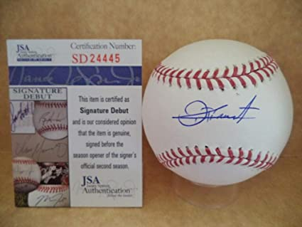 40d3bc47a88 Touki Toussaint Atlanta Braves Signature Debut Autographed Signed M.L  Baseball - JSA Authentic