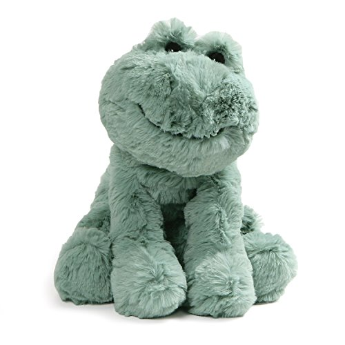 (GUND Cozys Collection Frog Stuffed Animal Plush, Pale Olive, 8