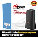 HiBoost Cell Phone Signal Booster for Home and Office Signal Extender Cellular Booster Signal Amplifier Up to 2,000 Sq.Ft, Compatible with AT&T, T-Mobile, Verizon, Sprint, and US Cellular
