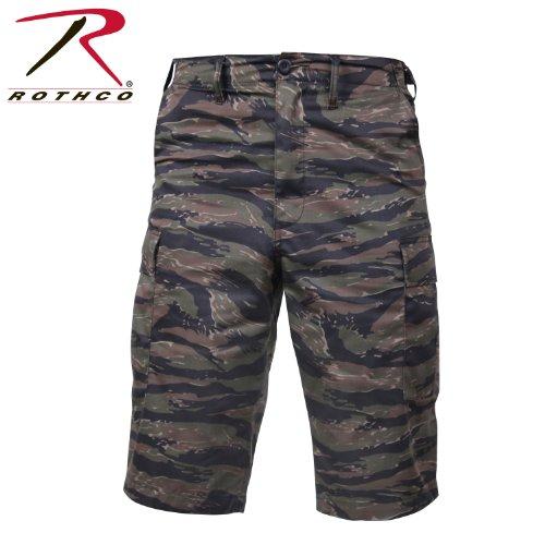 Rothco Longer Style BDU Shorts, Tiger Stripe, Large