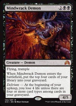 Magic: the Gathering - Mindwrack Demon - Shadows Over Innistrad
