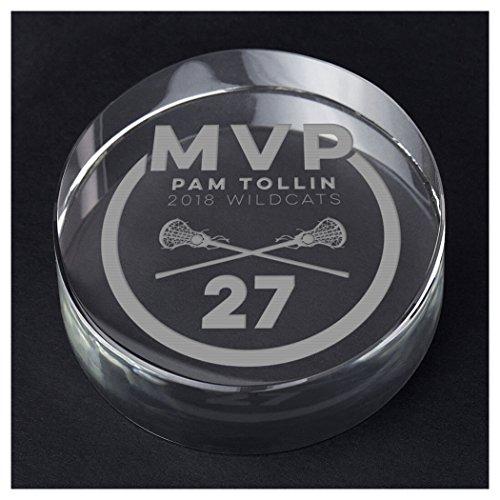 ChalkTalkSPORTS Girls Lacrosse Personalized Crystal Award Gift | MVP Award by ChalkTalkSPORTS