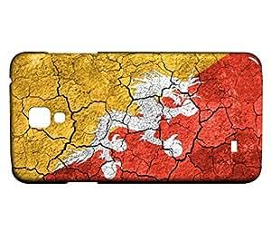 Funda Carcasa para Galaxy S4 Mini Bandera BUTÁN 03